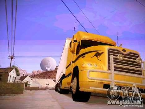 Mack Vision para GTA San Andreas vista hacia atrás