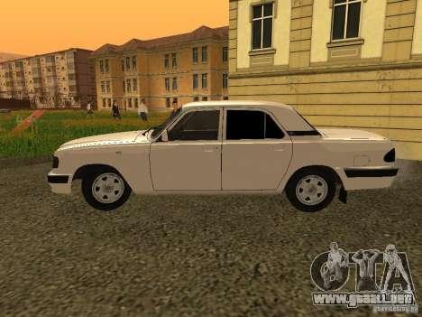 Volga GAZ 3110 para GTA San Andreas vista posterior izquierda