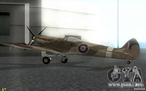 Spitfire para GTA San Andreas left
