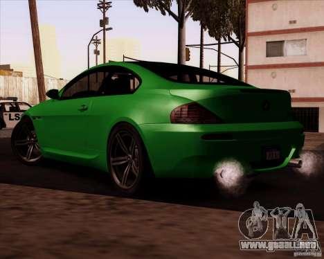 BMW M6 para visión interna GTA San Andreas