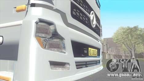DongFeng Denon para GTA San Andreas vista posterior izquierda