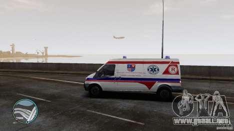 Ford Transit Ambulance para GTA 4 Vista posterior izquierda