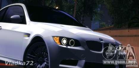 BMW E92 v2 Updated para visión interna GTA San Andreas