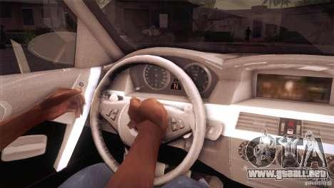 BMW M5 para la vista superior GTA San Andreas