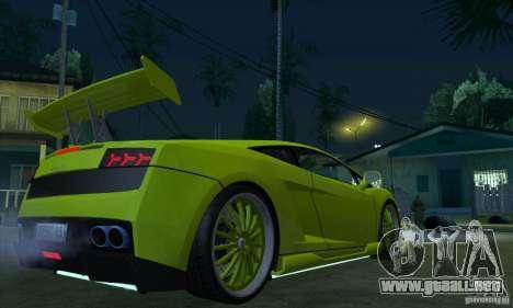 Lamborghini Gallardo LP560-4 Hamann para la visión correcta GTA San Andreas