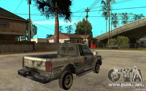 Rusty Mazda Pickup para la visión correcta GTA San Andreas