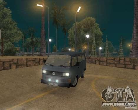 Volkswagen Transporter T3 para GTA San Andreas left