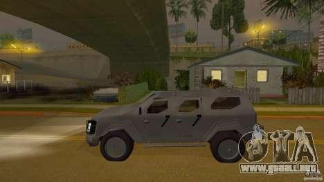 Gurkha LAPV para GTA San Andreas vista posterior izquierda