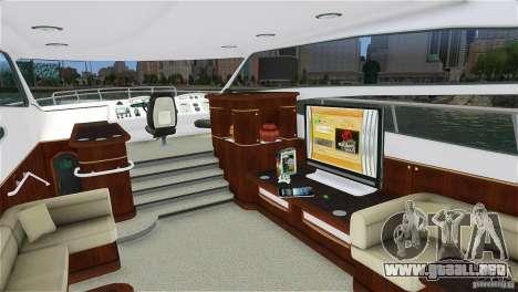 Luxury Yacht para GTA 4 left