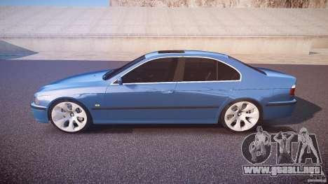 BMW 530I E39 e63 white wheels para GTA 4 left