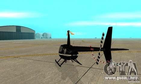 Robinson R44 Raven II NC 1.0 negro para la visión correcta GTA San Andreas