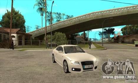 Audi S5 2008 para GTA San Andreas vista hacia atrás