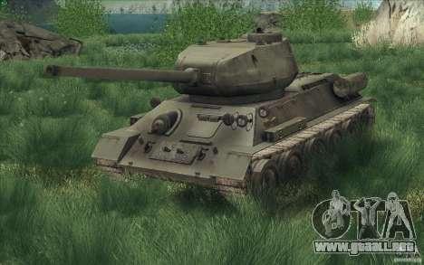 T-34-85 desde el juego COD World at War para la visión correcta GTA San Andreas