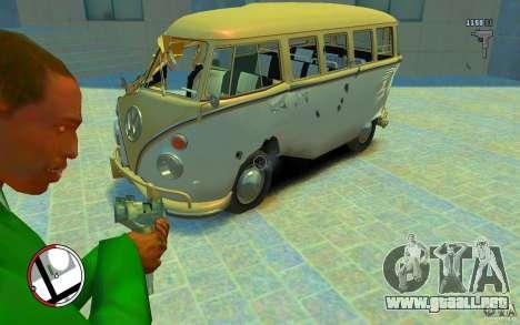 Volkswagen T1 Bus 1967 para GTA 4 vista lateral