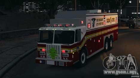 FDNY Rescue 1 [ELS] para GTA 4 vista superior