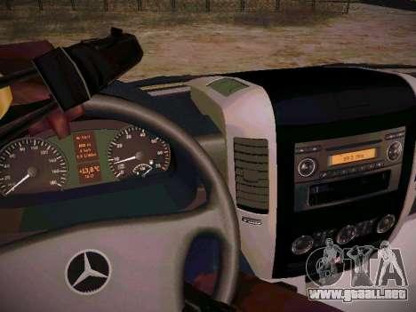 Mercedes Benz Sprinter Ambulance para visión interna GTA San Andreas