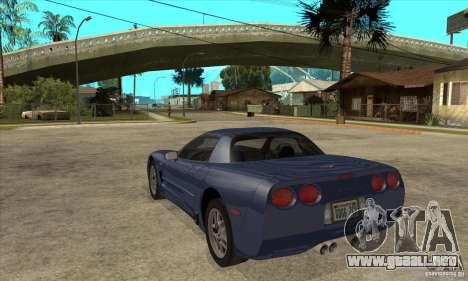 Chevrolet Corvette 5 para el motor de GTA San Andreas