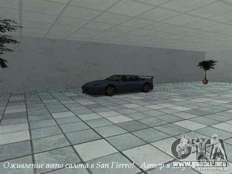 Showroom de trabajo en San Fierro v1 para GTA San Andreas segunda pantalla