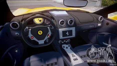 Ferrari California v1.0 para GTA 4 visión correcta