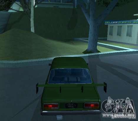 VAZ 2107 permite para la visión correcta GTA San Andreas
