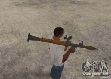 El RPG-7 para GTA San Andreas sucesivamente de pantalla
