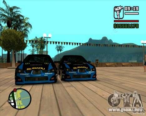 Subaru Impreza WRC STI 2007 Ken Block para GTA San Andreas left