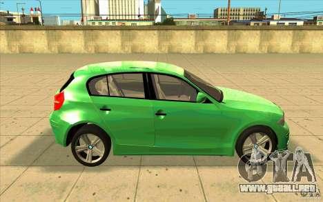 BMW 118i para visión interna GTA San Andreas