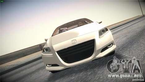 Honda CR-Z 2010 V1.0 para la vista superior GTA San Andreas