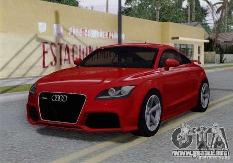 Audi TT-RS Coupe para vista inferior GTA San Andreas