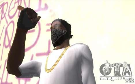 Guantes sin dedos v2 para GTA San Andreas