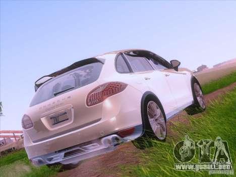 Porsche Cayenne Turbo 958 2011 V2.0 para GTA San Andreas vista posterior izquierda