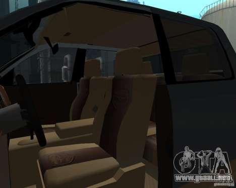Dodge Ram Hemi para visión interna GTA San Andreas