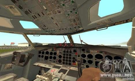 Boeing 727-100 American Airlines para GTA San Andreas vista posterior izquierda
