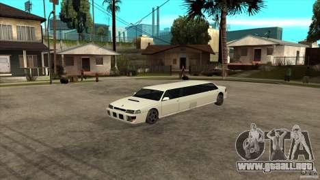 Limusina sultán para GTA San Andreas vista hacia atrás