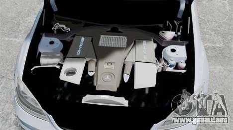 Mercedes-Benz S65 W221 Vossen v1.2 para GTA 4 vista interior