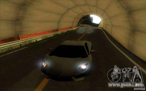 Lamborghini Aventador LP700-4 para GTA San Andreas interior