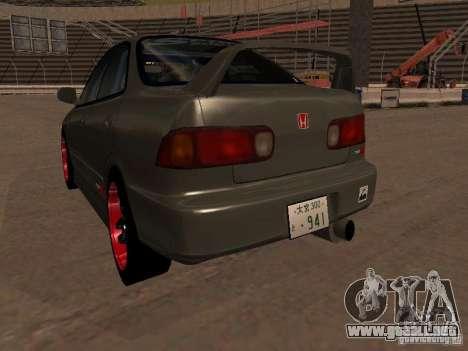Honda Integra TypeR para GTA San Andreas vista hacia atrás