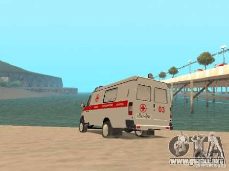 Ambulancia gacela 2705 para GTA San Andreas vista posterior izquierda