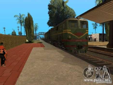 2Te10l locomotora diesel para GTA San Andreas vista posterior izquierda