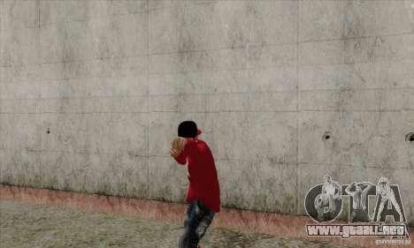 Sustituto de piel Bmyst para GTA San Andreas sucesivamente de pantalla