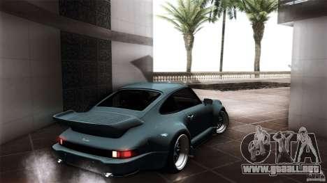 Porsche 911 Turbo RWB DS para GTA San Andreas vista posterior izquierda