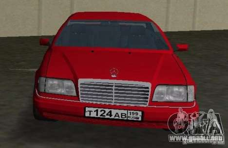 Mercedes-Benz E 320 (C124) para GTA Vice City visión correcta