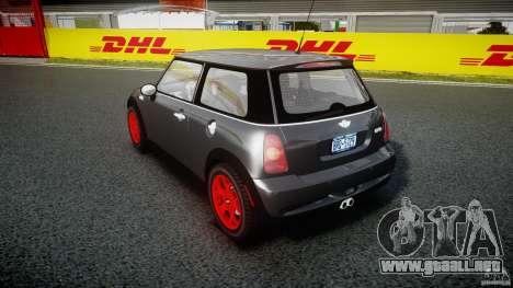 Mini Cooper S para GTA 4 vista lateral