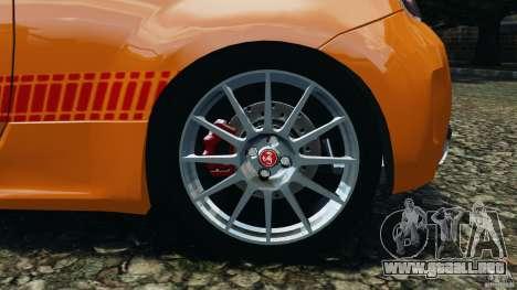 Fiat 500 Abarth para GTA 4 vista superior