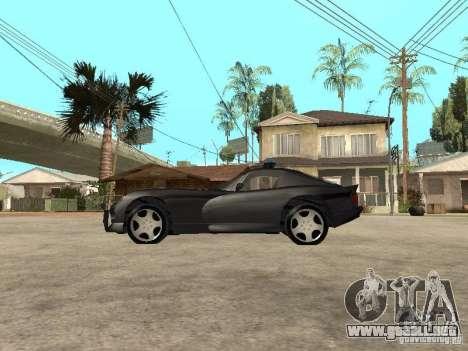 Dodge Viper Police para GTA San Andreas left