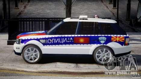 Range Rover Macedonian Police [ELS] para GTA 4 left