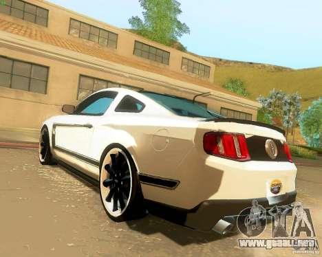 Ford Mustang Boss 302 2011 para GTA San Andreas left