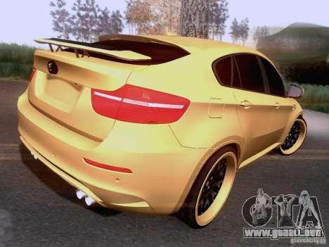 BMW X6M Hamann para visión interna GTA San Andreas