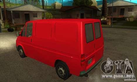 Ford Transit para la visión correcta GTA San Andreas