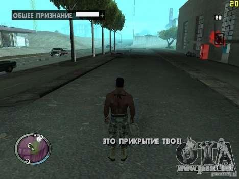 Nueva zona GANGSTER para GTA San Andreas quinta pantalla